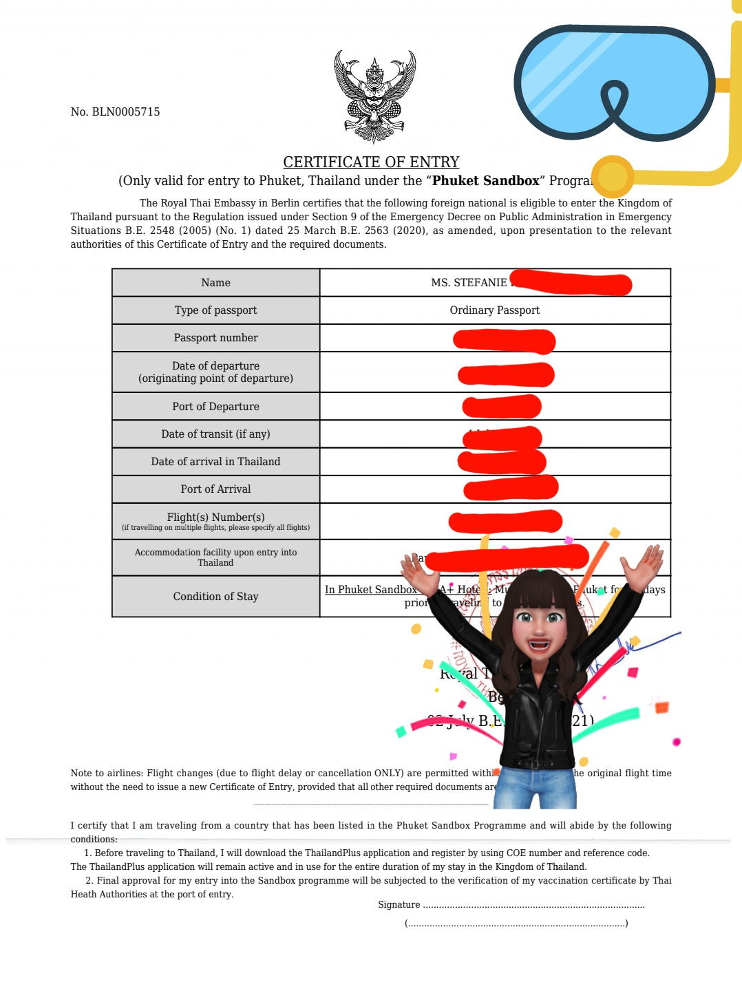 Certificate of Entry (COE)